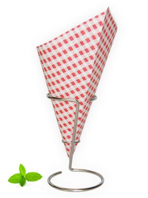 Paper Chip Cone Red White Checkered