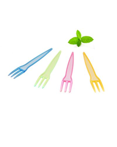 Disposable Plastic Chip Fork brightly colored