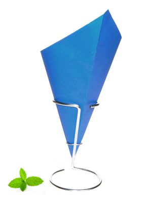 Fish and Chips cone made of 90 grams paper with blue print
