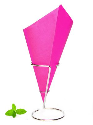 Fish and Chip Cone Pink, greaseproof paper