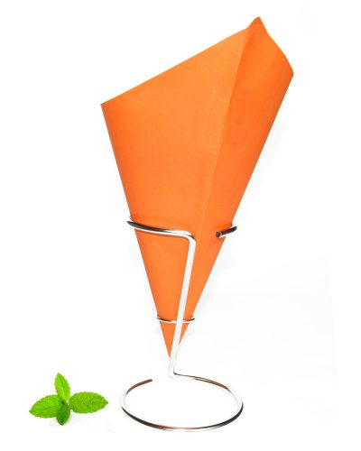 Fish and chip cone orange, Dutch paper cone