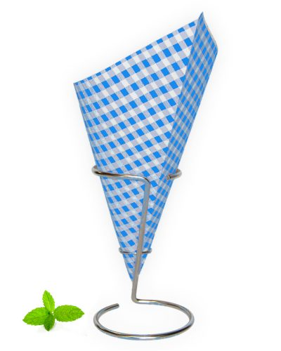 Chip cone Blue-white Checkered