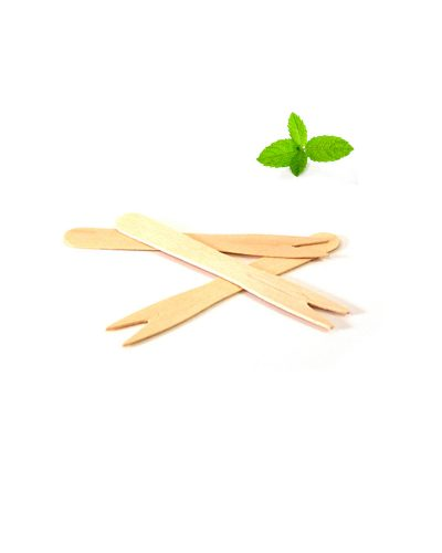 Wooden chip forks, fish and chips
