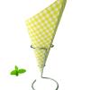 Chip cone green checkered